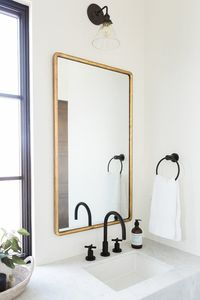 Promontory Project: Main Floor, Master Suite — STUDIO MCGEE #Bathroom #Mirror