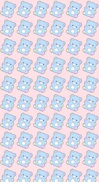 animals, art, background, bear, bears, beautiful, beauty, cartoon, cute animals, drawing, fashion, fashionable, illustration, inspiration, kawaii, luxury, pastel, pattern, patterns, pink, pretty, sugar, sweet, sweets, texture, wallpaper, wallpapers, we he