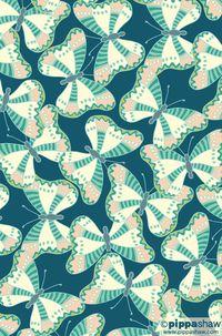 'Farfalle' repeat pattern by Pippa Shaw  #pattern #repeat #surfacepattern #butterflies #fabricdesign #farfalle #color #nature #art