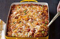 Mezcla de arroz, carne molida y vegetales mixtos al horno Receta
