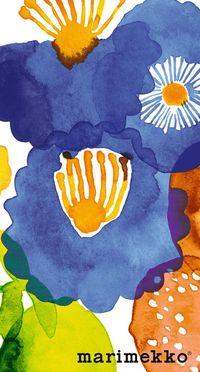 マリメッコ/花柄6 iPhone壁紙 Wallpaper Backgrounds iPhone6/6S and Plus  Marimekko Floral Pattern iPhone Wallpaper