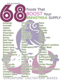 Food to boost your milk supply while lactating  Food to increase breast milk Breastfeeding Diet - 68 Foods For New Moms Foods For Breastfeeding: #Breastfeeding diet!!  Healthy lactation is vital. As your breast milk is packed with all the vital nutrients essential for your baby's well being and growth.
