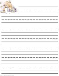 Teddy bear writing paper