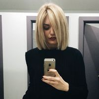 """Emily Luciano⠀ on Instagram: """"blunt haircut + blonde highlights & a complimentary manicure, hello best Thursday ever //"""""""