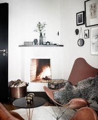 Open fireplace by Jonas Berg