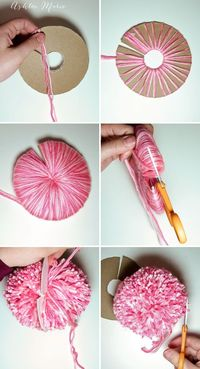 How to make an extra EXTRA large yarn pom pom | Ashlee Marie