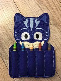 PJ máscara inspirada Crayon titular Owlette Gecko Catboy P