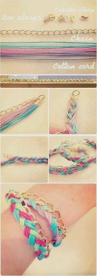 DIY : Plaited Bracelet | DIY & Crafts Tutorials