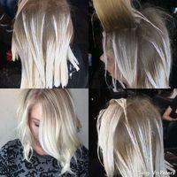 Icey Blonde Some @romeufelipe style freehand balayage. Using @pravana @guy_tang balayage ...