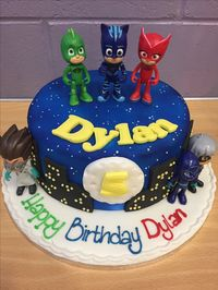 PJ masks birthday cake.