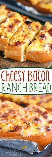 Cheesy Bacon Ranch Bread - Mom On Timeout