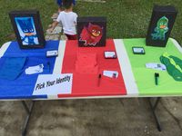 PJ Masks Birthday Entry table - Pick Your Identity