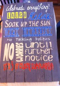 Pallet board with your POOL RULES hand painted on Etsy, $250.00