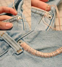 Easy DIY ideas with Old Denim Jeans