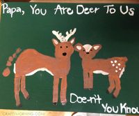 Footprint Deer Canvas for Father's Day - Crafty Morning