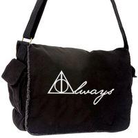 Harry Potter Inspired Always Deathly Hallows symbol messenger bag canvas printed