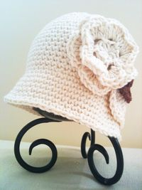 Classic Crochet Cloche Hat - Size from Toddler to Adults