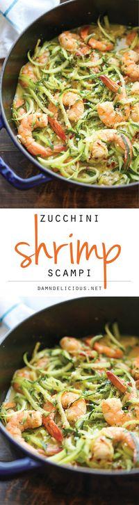 Zucchini Shrimp Scampi - Damn Delicious