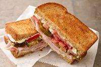 Espectacular sándwich de jamón  Receta