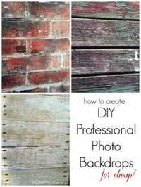 How to Create Professional Photo Backdrops - My Craftily Ever After