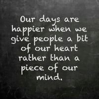 Although yesterday I gave a piece of my broken heart it felt good, but my mind felt bad.... :(