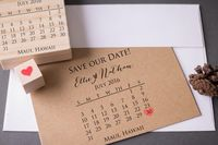 Save the Date Calendar Stamp Set with Heart Kit by stampcouture