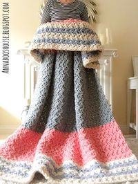 Enormous squishy blanket free #crochet pattern