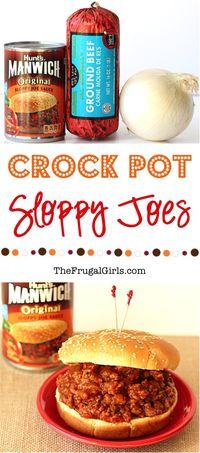 Crock Pot Sloppy Joes - The Frugal Girls