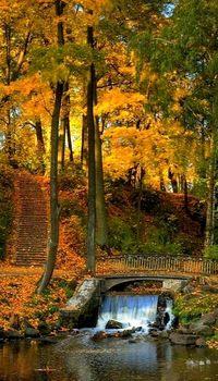 Waterfall Bridge, Woodstock, Vermont.