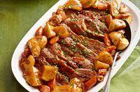 Pecho de res al horno con salsa para asar Receta - Comida Kraft