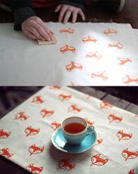 DIY foxy rubber stamp   Zana