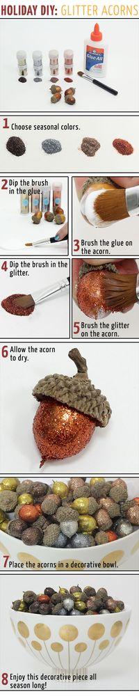 Holiday DIY: Glitter Acorns - Corri McFadden