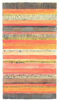 Gunta Stölzl - Bauhaus Master; Design for a Carpet 30.8 x 21.8 cm Signed above right