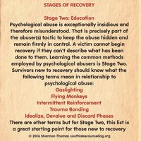 """It's extremely important for a survivor to understand and name what happened to them. This is vital to recovery. Telling them to """"let it go"""" or """"get over it and move on"""" does not assist in their efforts to heal from the abuse."""