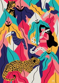 AYAHUASCA DIVINATION by MICHELA PICCHI, via Behance para vos amiga @Romina Vizuete Martinez Delmas