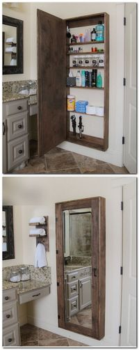 Mirrored Medicine Cabinet Made From Pallets