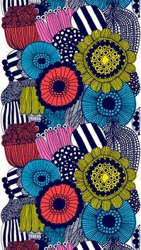 Marimekko fabric (http://cimmermann.co.uk/blog/scandinavian-style-uncovered/)