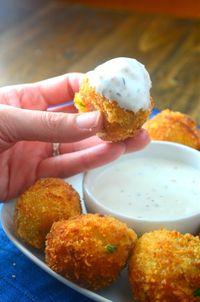 Cheesy Loaded Potato Bombs - Oh Sweet Basil