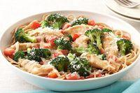 Pasta con pollo y brócoli a la parmesana Receta