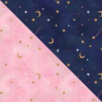 Carly Watts Art & Illustration: Night & Day #pattern #surfacedesign #surfacepattern #navy #pink #gold #stars #celestial