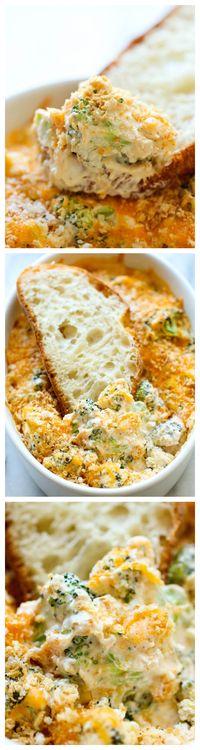 Baked Broccoli Parmesan Dip - Damn Delicious
