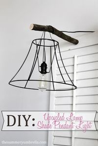 DIY: Upcycled Lamp Shade Pendant Light