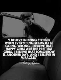 Love this quote by Audrey Hepburn