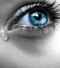 . . . a little 'bitty tear let me down . .   spoiled my act as a clown . . .