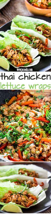 Thai Chicken Lettuce Wraps - Jo Cooks