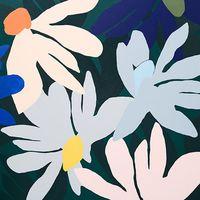 Cassie Byrnes: 'Cenozoic Garden' acrylic on linen