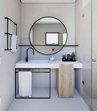 Mirror With Shelf Q #ModernBathroomDesign