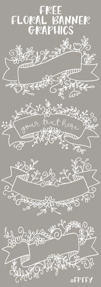 Free Floral Banner Graphics- Set of 4! - Free Pretty Things For You