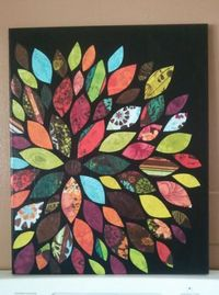 Scrap Paper Wall Art... I may have to try this. I have an endless supply of colorful scrap paper, lol (:
