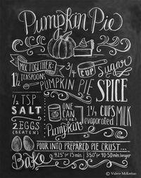 Pumpkin Pie Recipe - Print | Lily & Val